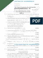 Engg Mathematics 3 Jan 2014