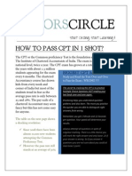 Tutors Circle Brochure - Pass CA CPT in 1 shot :)