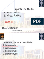 MBBS Broad spectrum AMAs, Macrolides and Misc. AMAs Class III