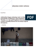 Drought-Hit Malaysian State Rations Water - Channel NewsAsia