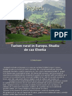 Proiect Turism Rural in Europa Elvetia Student Mira Francesca T114