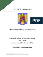 Programul National de Dezvoltare Rurala 2007 - 2013 - Versiunea Decembrie 2012