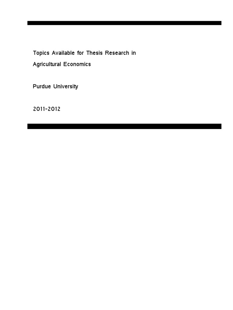 agriculture thesis topics