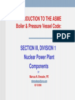 Introduction to the Asme Code, Section III, Nuclear (Course)