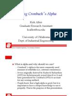 Explaining Cron Bach Alpha