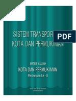 Sistem Transportasi Kota Dan Pemukiman