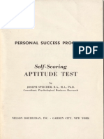 Personal Succes Program_ Self-Scoring Aptitude Test_ Joseph Speicher