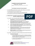 Seven Elements of Effective Negotiations