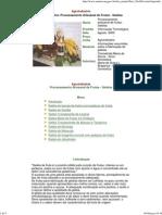 Agroindústria Processamento Artesanal de Frutas - Geléias