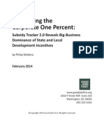 Subsidizing the Corporate One Percent FINAL