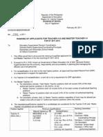 Dep -Ed Memo Reclassification t111-philippines
