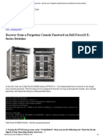 Humair's Blogs » Blog Archive » Recover from a Forgotten Console Password on Dell Force10 E-Series Switches