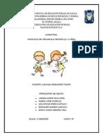 Representación de las principales categorías explicativas del desarrollo humano en la infancia y adolescencia.