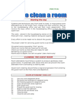 04) How to Clean a Room Hout