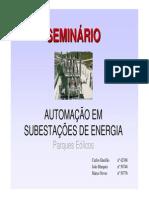 automação em subestações