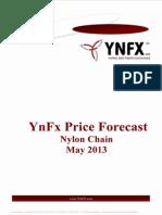 YnFx Nylon Price Forecast - May 2013