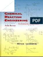 Solution Manual Chemical Reaction Engineering, 3rd Edition