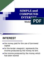 3.1 Simple & Compound Interest