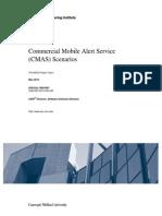 Commercial Mobile Alert Service (CMAS) Scenarios