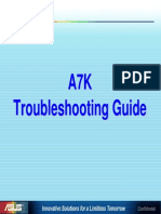 Asus A7K Troubleshooting Guide