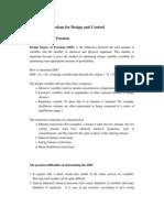 Huang Control and Design DOF