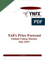 YnFx Cotton Price Forecast - July 2013