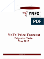 YnFx Polyester Price Forecast - May 2013