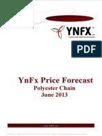 YnFx Polyester Price Forecast - June 2013