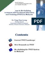 Key Reforms in Revitalizing TVET Malayisa