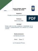 RETOS, PROBLEMAS Y POSIBILIDADES DE LA FORMACIÓN Y PROFESIONALIZACIÓN DE LA DOCENCIA EN EL ACTUAL CONTEXTO.