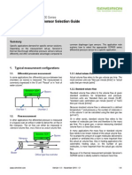 An SDP600 Differential Pressure Sensor Sensor Selection Guide