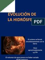 Evolución de la hidrósfera