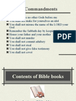 Contents of Bible Books