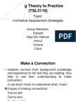 Formative Assessment Strategies TSL 3110