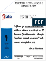 Certificado Vi Luta Antimanicomial Fafia 2013 - Minicurso - Sem Nome
