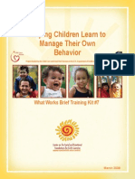 Help Children Learn to Manage Their Own Behavior