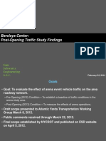 Barclays Center Post-Opening Traffic Study Findings, Feb. 24, 2014
