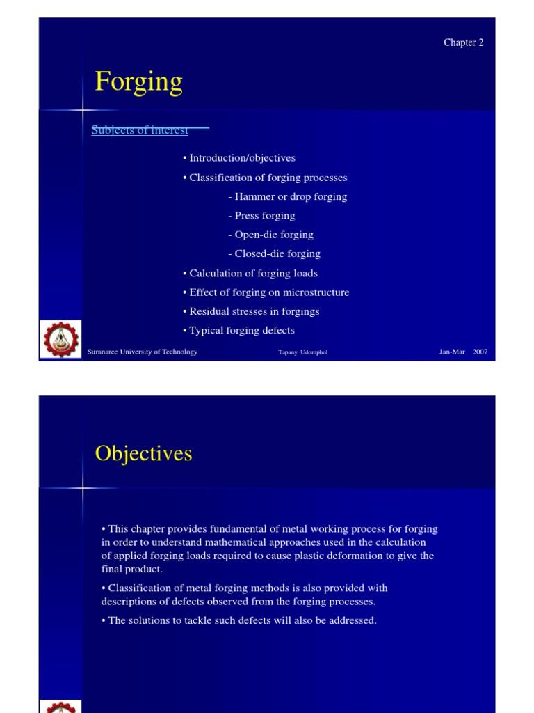 Forging | Forging | Stress (Mechanics)