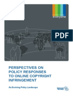 Perspectives on policy responses to online copyright infringement