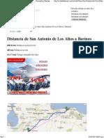 Distancias San Antonio de Los Altos - Barinas