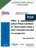 Certificado Vi Luta Antimanicomial Fafia 2013 - Palestrante - Sem Nome