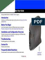 Motorola SB5100 Cable Modem Install guide