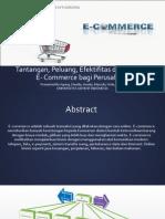 Tantangan, Peluang, Efektifitas Dan Strategi E-Commerce