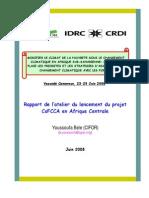 Rapport réunion lancement projet CoFCCA (French)