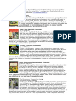 List of Organic Gardening Books