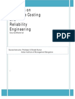 Life Cycle Costing and Reliability Engg