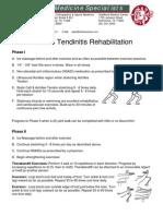Sports Medicine Specialists Rehabilitation Protocols