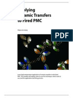 Applying Ceramic Transfers