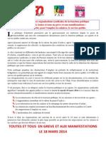 2014-02- Communique Commun Des Os de La Fonction Publique