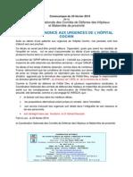 Communiqué du 24 février 2014 Décès à l'Hôpital Cochin